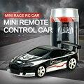 1:58 mini rc coches 2010b toys 1.2 v 2.4g rc de control remoto de alta velocidad modelo colorido enlatados mini coche con la luz