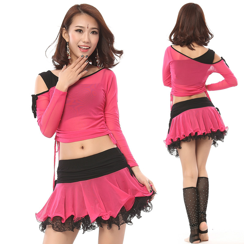 2016 Cotton Bellydance Belly Dancing Women Costume Comfortable Set New Dress Suit And Long Sleeved Clothes Dance
