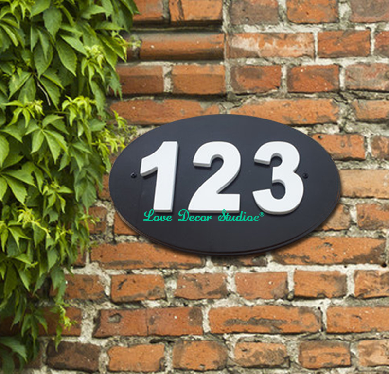 Outdoor house number plaque House numbers. House number sign. House number plaque Wedding sign