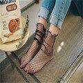2017new moda mallas caliente calcetines de las mujeres al por mayor divertida harajuku sokken calzini divertidos calcetines de mujer calcetines transparentes
