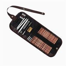 28 шт. уголь earser нож рисунок карандаш эскиз картины холст Карандаш сумка комплект Рождественский подарок для детей