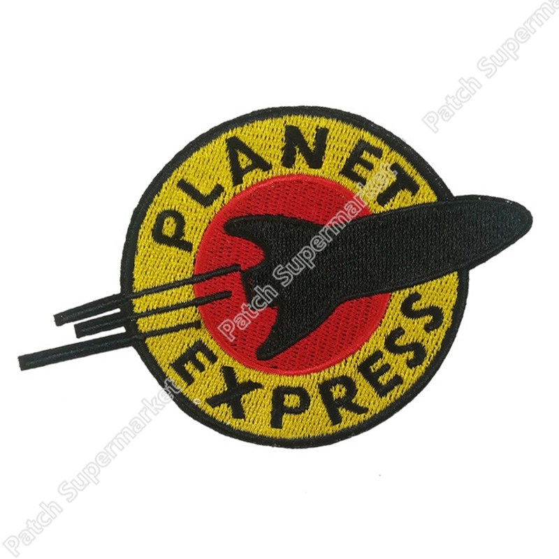 Futurama planet express 철 봉제 수 놓은 패치 배지 의상 팬시-에서패치부터 홈 & 가든 의  그룹 1