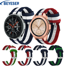 20MM Sport Band for Samsung Gear S2 Nylon Strap Galxy Watch 42mm Wristband Replacement Bracelet Wrist