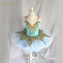 Балетная пачка с блестками для детей, для девочек, профессиональная балетная пачка для взрослых женщин, танцевальные костюмы балерины для девочек, балетное платье