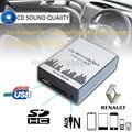 Reproductor de música MP3 del coche AUX USB SD Adaptador del Cambiador de CD para Renault 8 pines Avantime Clio Modus Maestro Interfaz de Dayton, car-styling