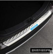 Нержавеющая сталь заднего бампера протектор подоконник магистральные протектора плиты накладка пригодный для mitsubishi outlander 2016 с синей или черной