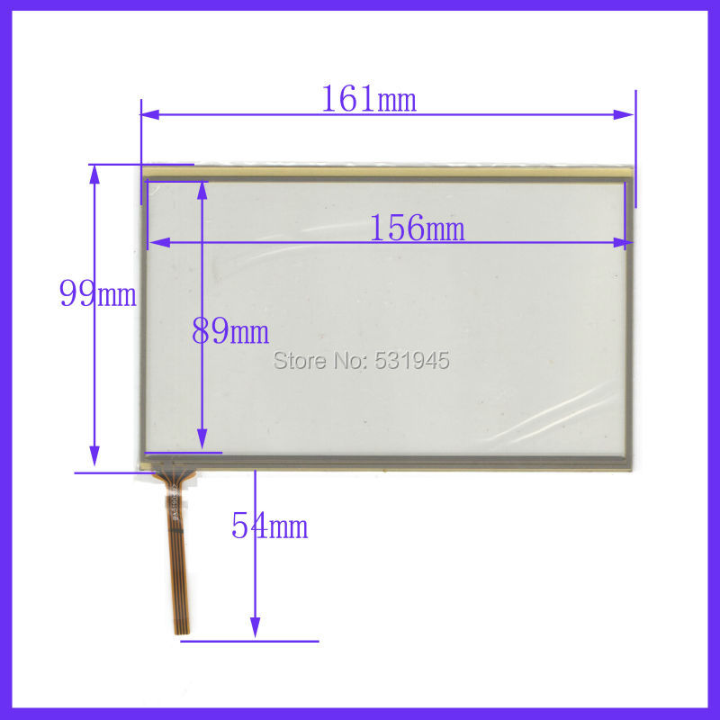 NEW 161mm*99mm TOUCH SENSOR 7 inch 4-wire Touch Panel 161*99 compatible Navigator TOUCH SCREEN use LCD display USE GPS and CAR