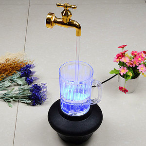Image 5 - Magic Faucet Lamp Suspended Taps Yellow Injection Molding LED Decorative Ornaments 220V Plastic Portable Durable Furnishing