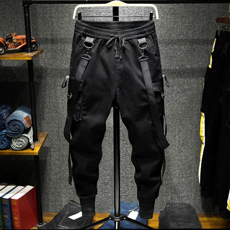 Pant Streetwear Joggers Cargo-Trousers Harem Slim-Fit Hip-Hop Fashion Male Dancing Men
