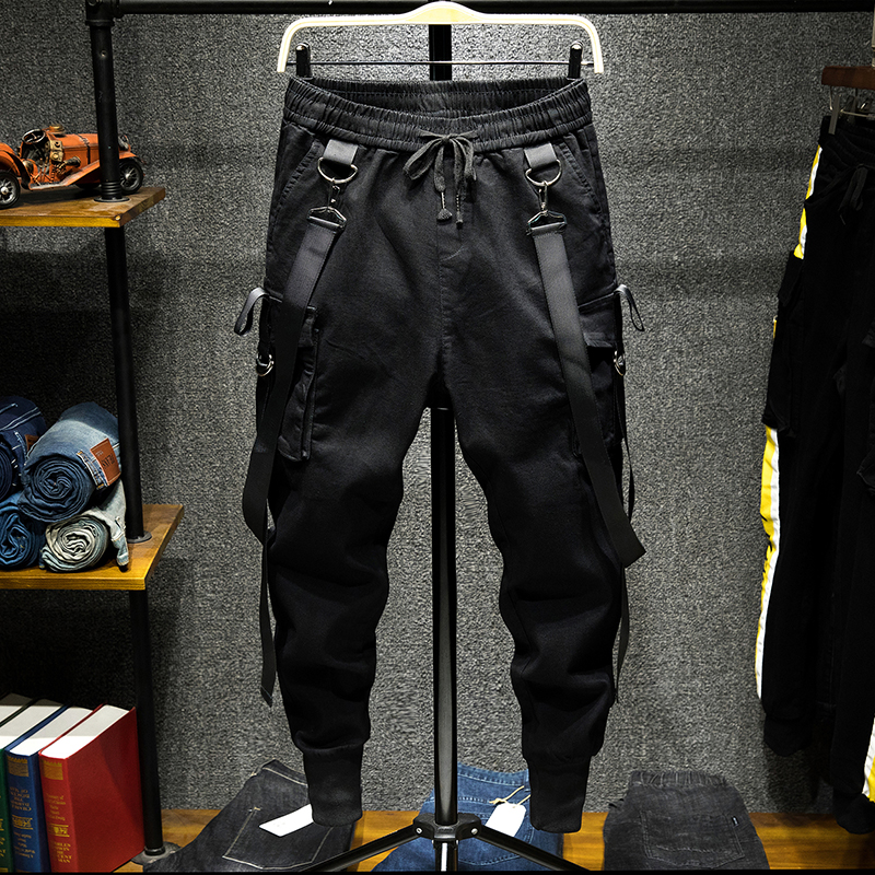Men High Street Fashion Slim Fit Harem Pant Streetwear Hip Hop Dancing Casual Pant Male Cargo Trousers Joggers Sweatpants