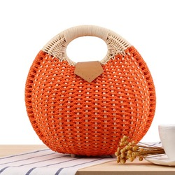 Hot Fashion Women Handbag Straw Weave Shell Bag Beach Travel Girl Casual Bags BVN66