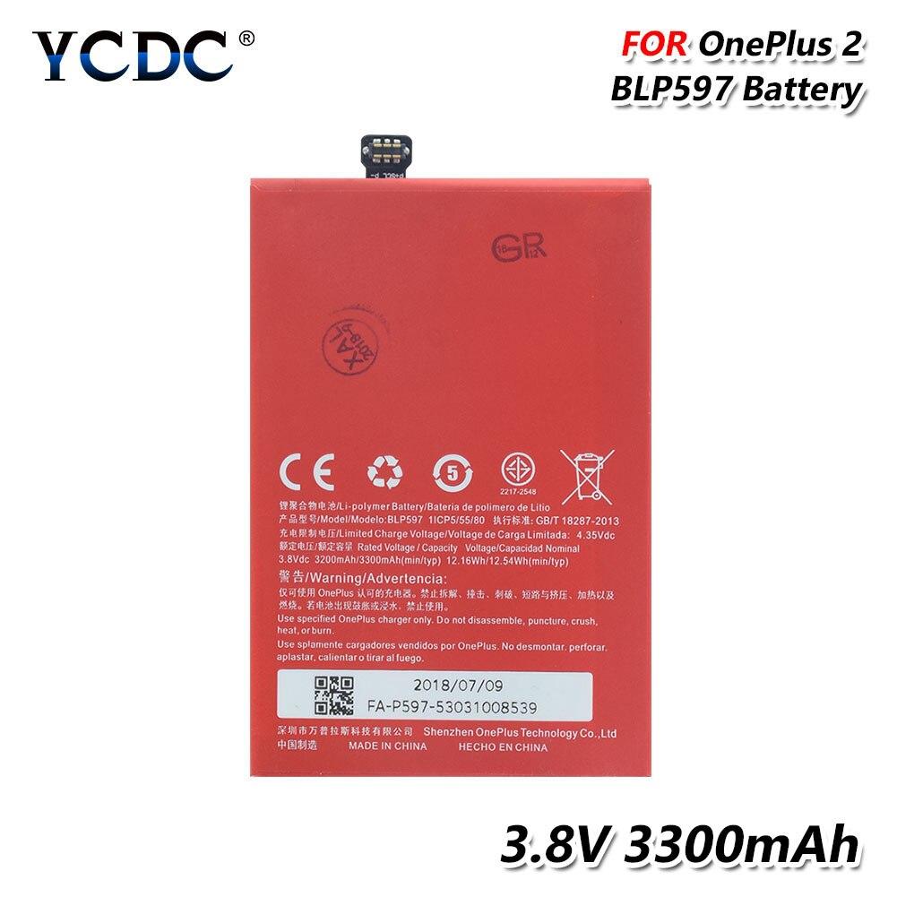 Ycdc 100% original blp597 bateria BLP-597 blp 597 substituição bateria recarregável para oneplus 2 um mais dois a2001 a2003 a2005