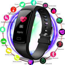 2019 LIGE Smart Bracelet With Heart Rate Blood Pressure Oxygen Oximeter Sport Watch Ring Waterproof Smart Watch For IOS Android