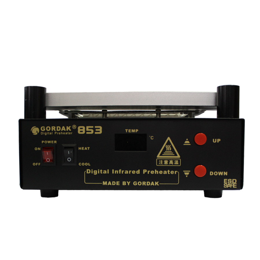 Free Ship Gordak 853 Digita Hot Air Heat Gun BGA Rework Solder Station+Electric Soldering iron+IR Infrared Preheating Station shuttle star sp380iitouch screen hot air bga rework station sp 380ii free tax to russia