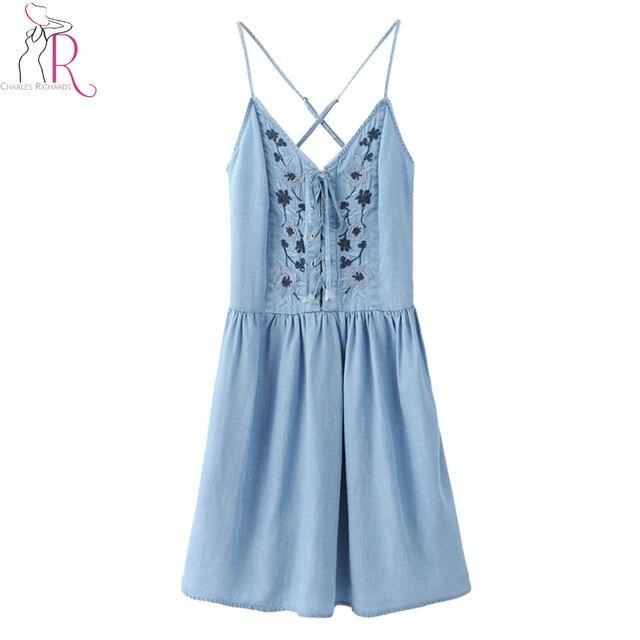 Lace Denim Dresses
