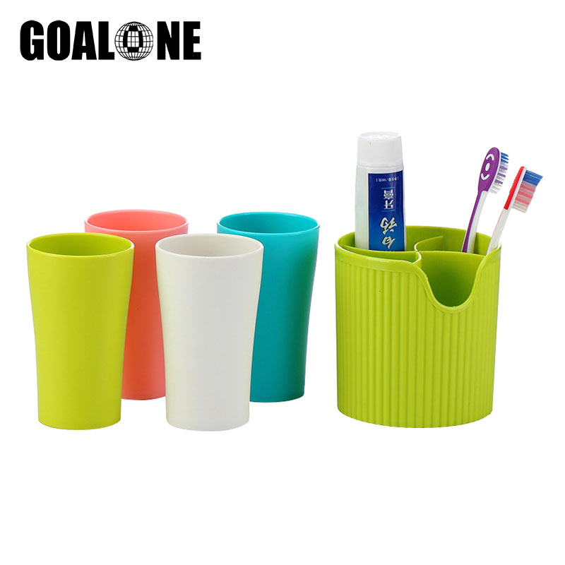Creative 5Pcs/Set Toothbrush Holder Cup High Quality Plastic Portable with Travel Toothpaste Storage Tumbler Set