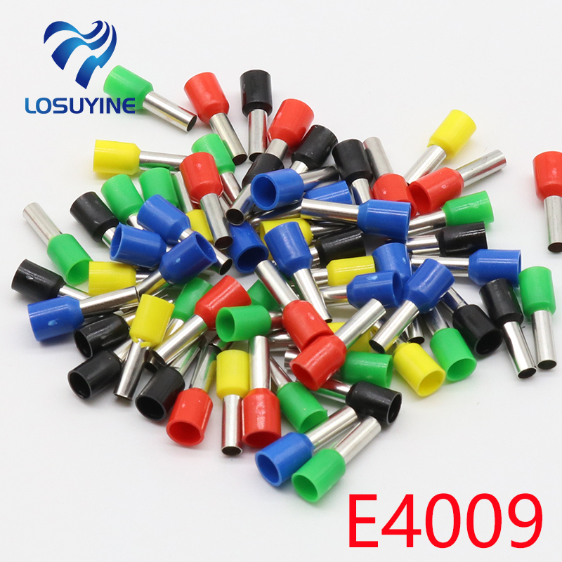 цена на E4009 Tube insulating terminals 4MM2 100PCS/Pack Cable Wire Connector Insulated Insulating Crimp Terminal Connector E-