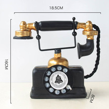 Винтажная статуя телефона старинная потертая старая Статуэтка телефона домашний декор BDF99