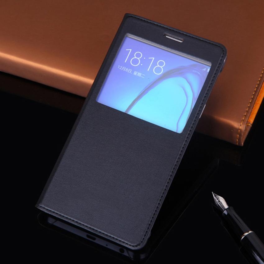 Slim View Window Phone Case Läder Skyddande Flip Cover Holster För - Reservdelar och tillbehör för mobiltelefoner - Foto 1