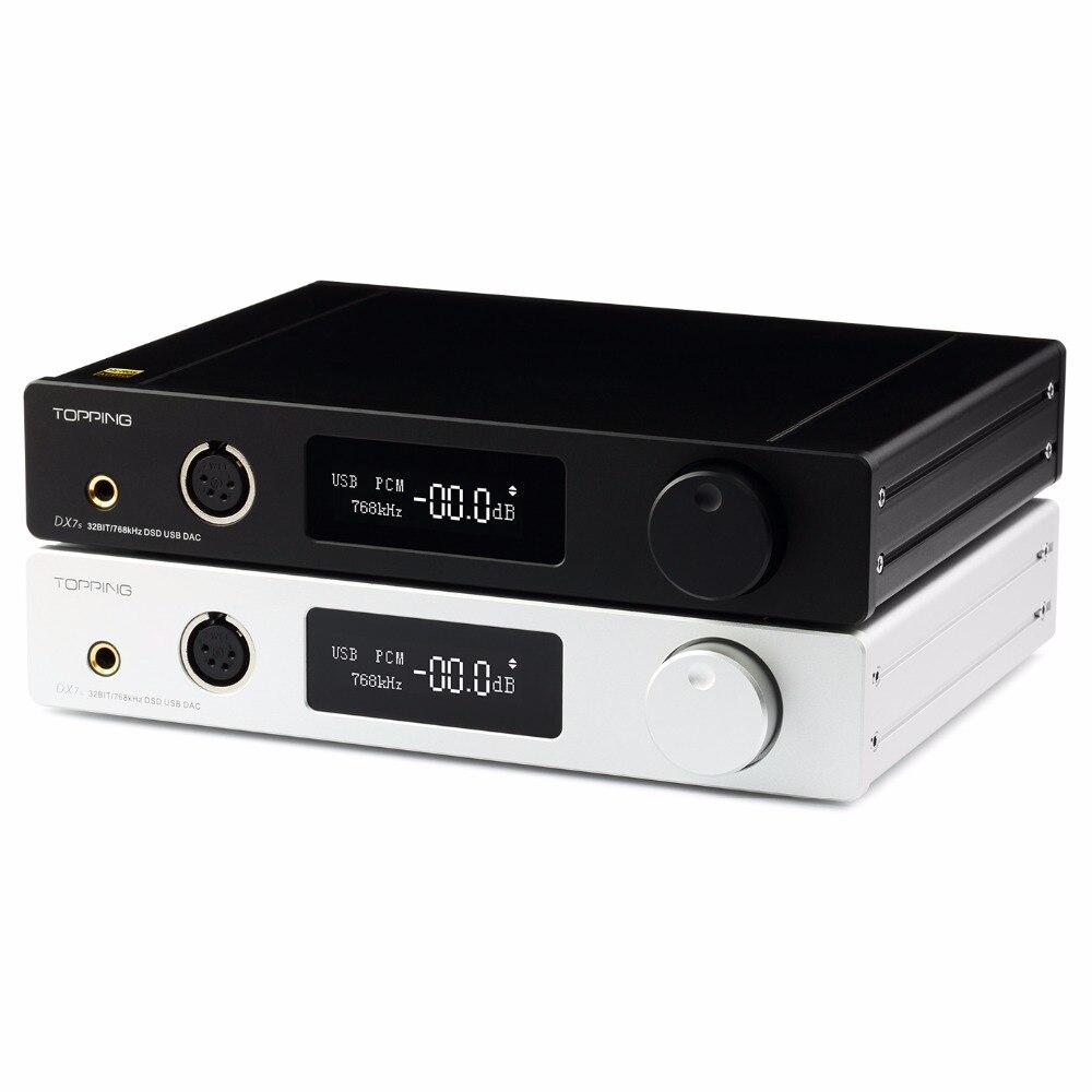 GARNITURE DX7s 2 * ES9038Q2M 32Bit/768 K DSD512 Plein équilibré CAD & Casque amplificateur XMOS (XU208) + OPA1612 USB/OPT/AES/COAXIAL entrée