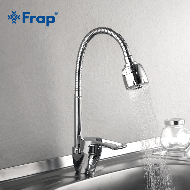 Frap 1 SET New Arrival Kitchen Faucet Mixer Cold and Hot Kitchen Tap Single Hole Water Tap Zinc alloy torneira cozinha F43701-b(China)