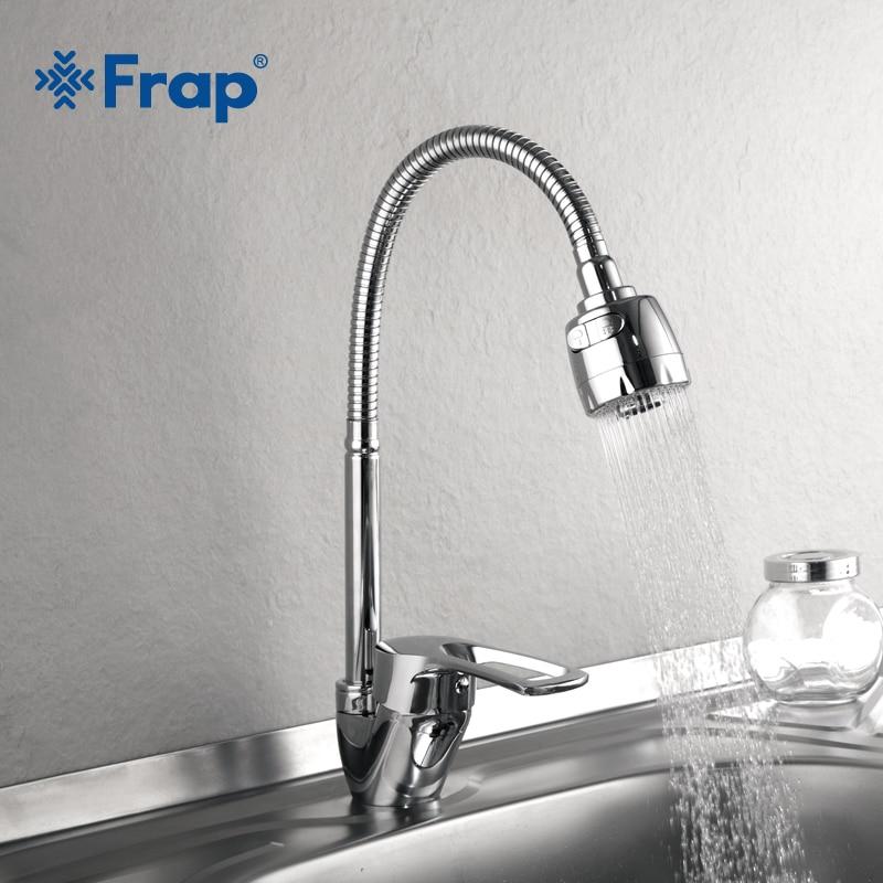 Frap 1 компл. Новое поступление Кухня смеситель холодной и горячей Кухня нажмите на одно отверстие водопроводной воды цинковый сплав torneira Cozinha f43701-b