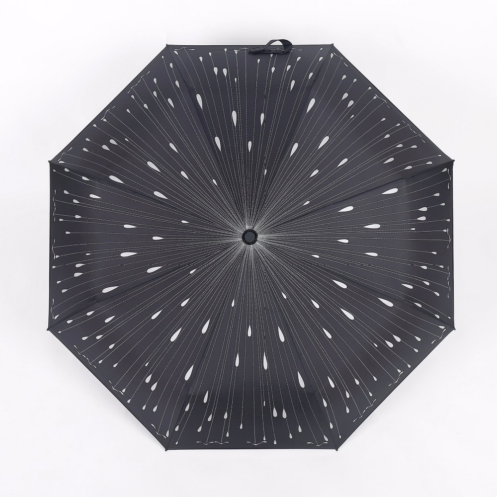 Romantic meteor shower folding umbrella rain woman sunny umbrellas female girls three folding umbrella paraguas plegable XYZS-7