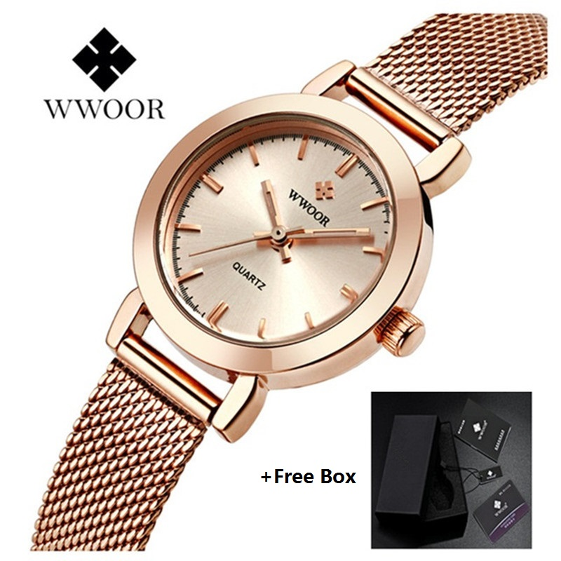 WWOOR Ladies Wrist Watches for Women Ultra Thin Quartz Watch