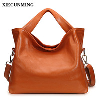 genuine leather bag female tote bags for women leather handbag ladies messenger bag with high quality and large capacity