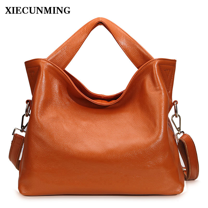 genuine leather bag female tote bags for women leather handbag ladies messenger bag with high quality and large capacity 2017 new elegant handbag for women high quality split leather female tote bags stylish red black gray ladies messenger bag