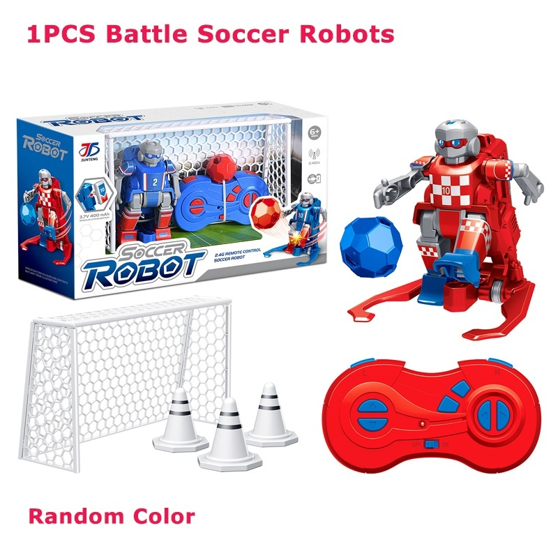 RC Robot Cartoon Model Play Soccer Robot Remote Control Toys Electric Football Robot Indoor Toys for Children Christmas Gift image