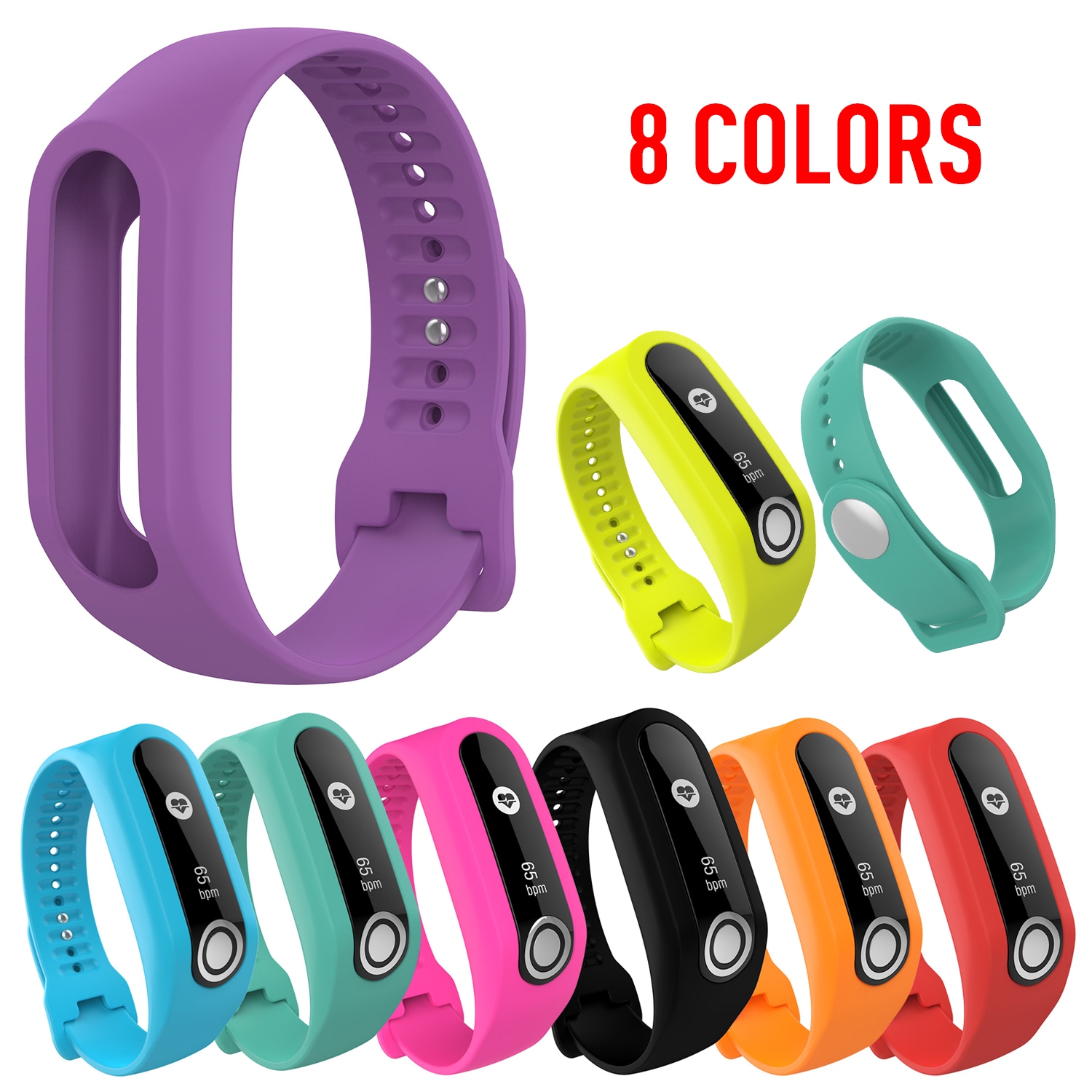 Silicone Band Strap For TomTom Touch Cardio Activity Tracker Silicone Replacement Wrist Band Strap Watch Band Smart Bracelet