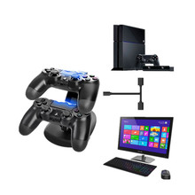Controller Charger Dock LED Dual USB PS4 Charging Stand Cradle for Sony Playstation 4 / Pro /PS4 Slim A9.29