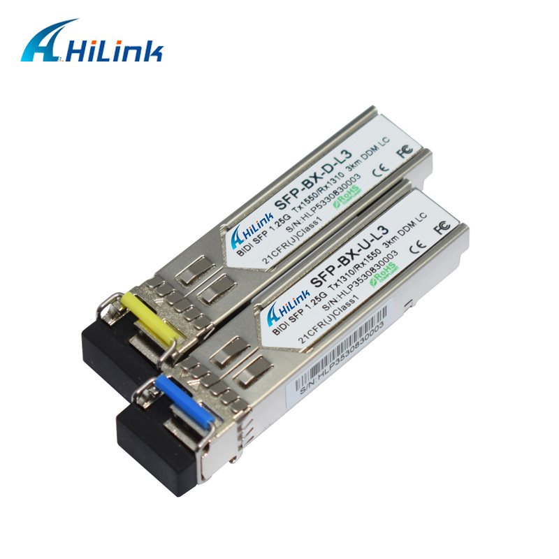 1000BASE-BX 1,25G BiDi SFP 3 км/20 км 1310 нм/1550 нм WDM SFP LC/SC опционально