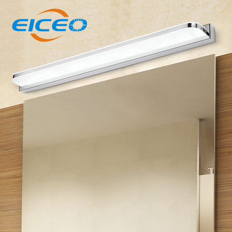(EICEO) Waterproof Anti Fog LED Wall Lamps Mirror Modern Light Acrylic Bedroom Bathroom LED bathroom LED Wall Lamp Lights modern minimalist waterproof antifog aluminum acryl long led mirror light for bathroom cabinet aisle wall lamp 35 48 61cm 1134