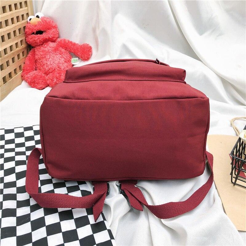 escola unisex simples cor sólida bolsa de