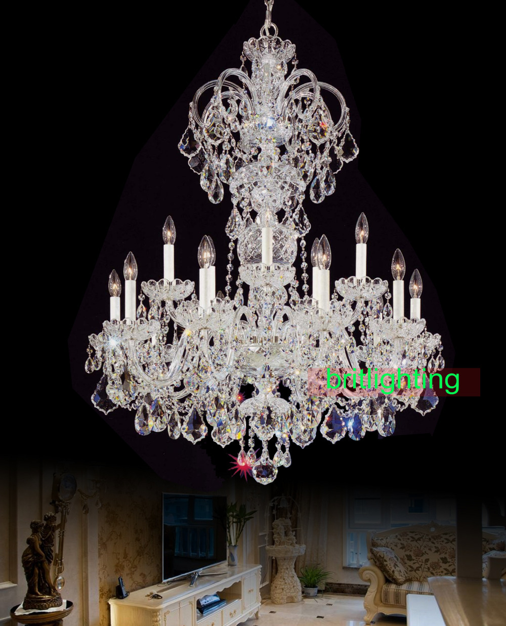 Buy bohemian crystal chandelier and get free shipping on aliexpress arubaitofo Choice Image