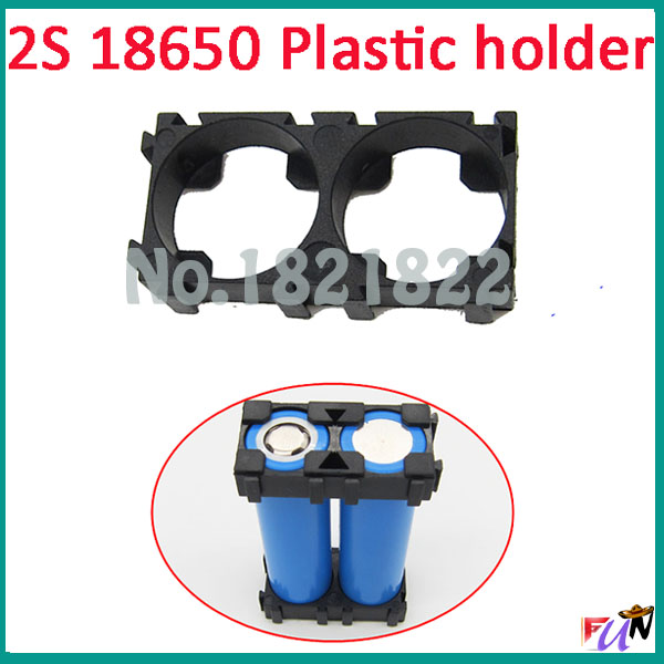 2pcs/a Lot 18650 2s Batteryholder Bracket Cylindrical Battery Holder 18650 Cell Holder Safety Anti Vibration Plastic Holder High Quality And Low Overhead
