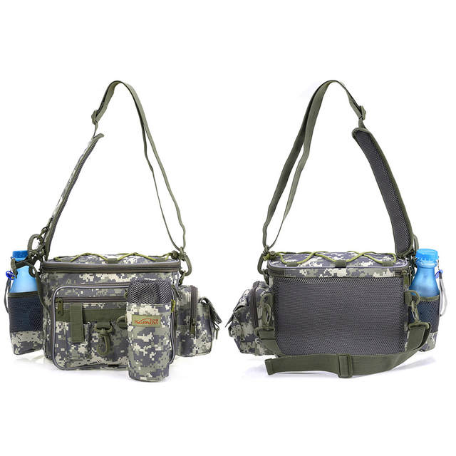 c4da469a35 TSURINOYA Multifunction fishing bag Lure bag Waist Pack Pouch Pole Package Fishing  Tackle Bag Portable Outdoor