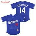 0e4b76d72c97f Salto Jersey hombre Jersey de Los Angeles Hernández Jersey película Jerseys  de béisbol de color blanco