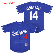 Throwback Jersey Mens Los Angeles Hernandez Movie Baseball Jerseys Colour White Gray Blue Black Shirt Stiched Wholesale