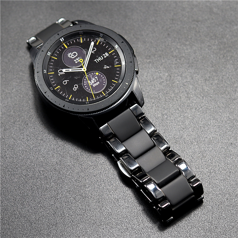 Image 2 - Ceramic watchbands For samsung gear s2 S3 band  20 22mm watch band  gear s3  watch strap huawei watch gt  galaxy watch 46mm42mm-in Watchbands from Watches