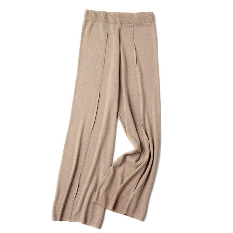 Quality summer   wide     leg     pants   women fashion thin harajuku high waist   pants   loose   pants   pantalones female D370