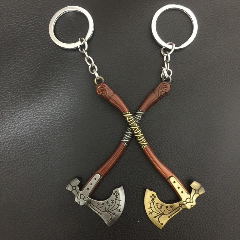 Halloween  Game God Of War Keychain OLYMPUS KRATOS  Rings Kids Gift Chaveiro Key Chain Jewelry  props