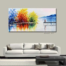 wall art handmade Landscape Painting Modern Wall Art Canvas Acrylic artwork painting For Home Decoration