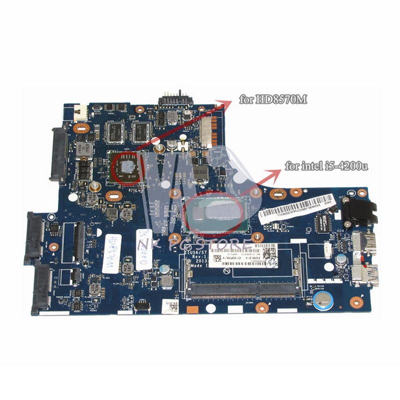 Notebook PC Motherboard For Lenovo S410 Main Board System Board LA-A321P I5-4250U HD 8570M 1GB Discrete Graphics DDR3 laptop motherboard for lenovo y430 notebook pc system board main board ddr2 jitr1 r2 la 4141p