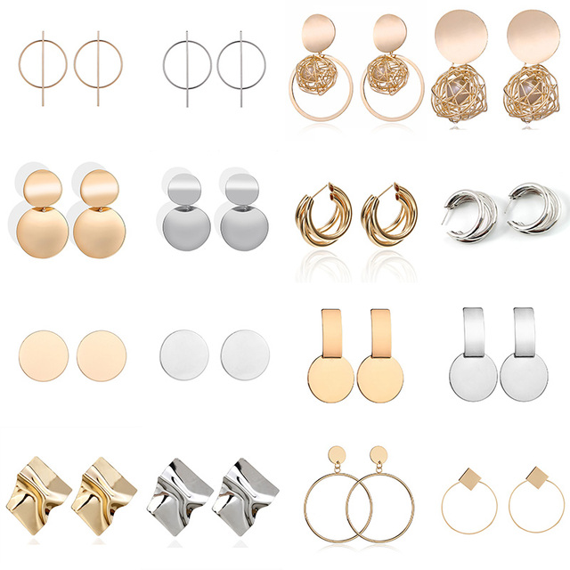 Boucles d'oreilles géométrique 2
