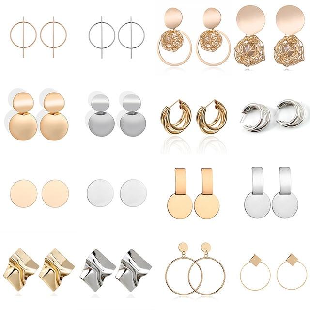 Fashion Statement Earrings 2019 Big Geometric Round Earrings For Women Hanging Dangle Earrings Drop Earing Modern Female Jewelry 1