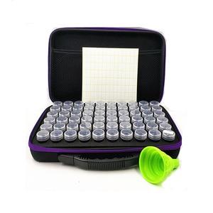 Image 3 - 30/60 Flessen Diamant Schilderij Doos Tool Container Opbergdoos Carry Case Houder Hand Tas Zipperdiamond Kruissteek Accessoires