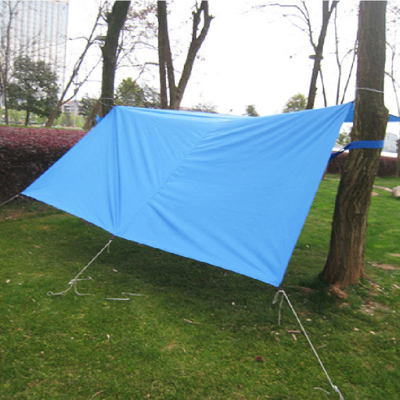 Silver coated fabrics increase sunshade rainproof canopy 3*3 Midibu tents moisture proof pad Rain hammock Rain shelter Awning-in Hammocks from Furniture on ... & Silver coated fabrics increase sunshade rainproof canopy 3*3 ...